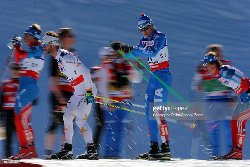 Ambiance during the FIS Nordic World Ski Championships Cross Country Men's Mass Start on March 03, 2013 in Val di Fiemme, Italy.