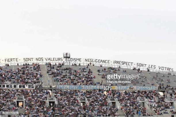 Ambiance Supporters / Banderole Marseille / Evian Thonon 7eme journee de Ligue 1