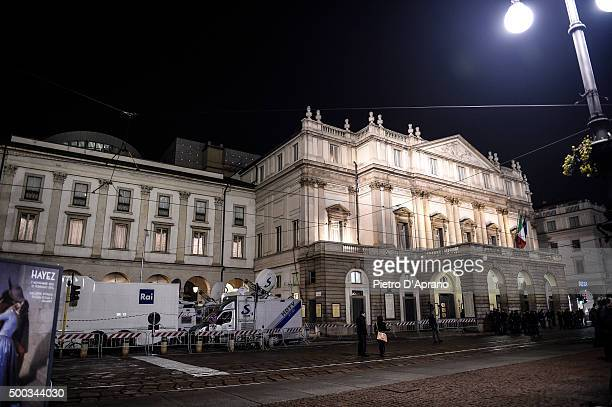 Ambience at Teatro Alla Scala on December 7 2015 in Milan Italy