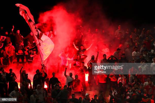 Ambient after Benfica's Mexican forward Raul Jimenez score a goal during the Premier League 2016/17 match between Rio Ave and SL Benfica at Arcos...