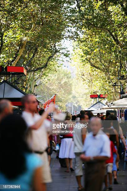 Ambient in las Ramblas of Barcelona