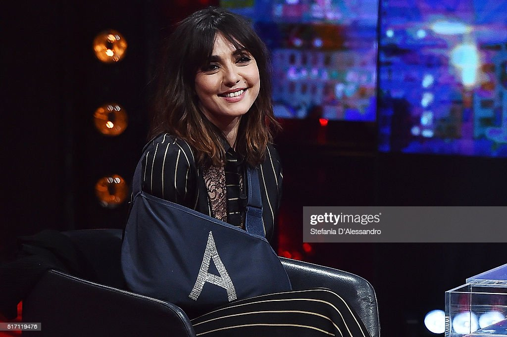 Ambra Angiolini attends E poi c'e' Cattelan Tv Show on March 23, 2016 in Milan, Italy.
