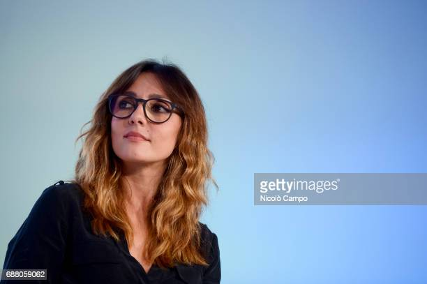 Ambra Angiolini attends the 30th Turin International Book Fair