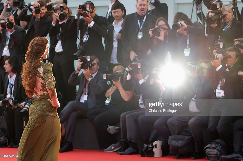 Ambra Angiolini attends the Closing Ceremony of the 71st Venice Film Festival on September 6, 2014 in Venice, Italy.