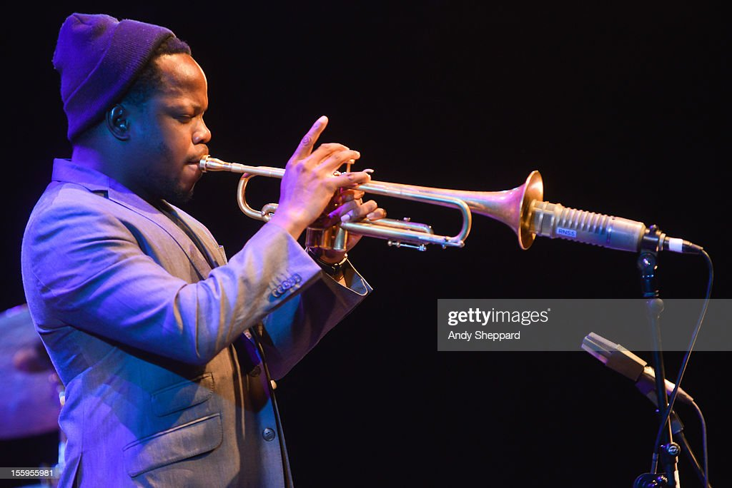 Ambrose Akinmusire performs on stage at Queen Elizabeth Hall during the London Jazz Festival 2012 on November 9, 2012 in London, United Kingdom.