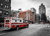 Ambulance on the streets of New York City