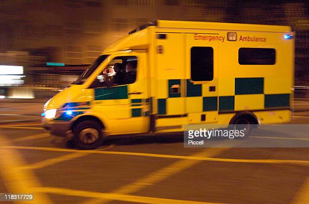 Ambulance speeding in London street