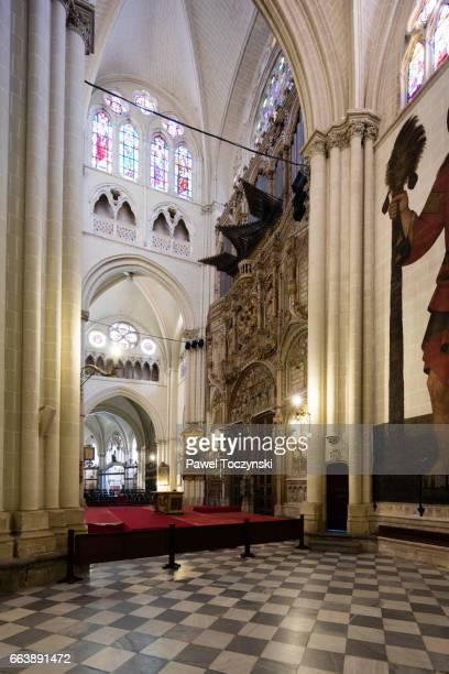 Ambulatory of Toledo Gothic Cathedral, Spain