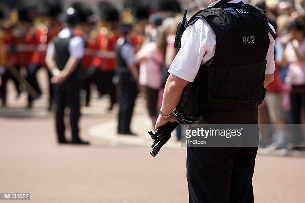 Amed Police Officer outside Buckingham Palace