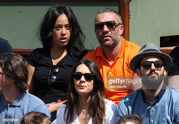 Amel Bent and boyfriend attend Day 12 of the French Open 2014 held at RolandGarros stadium on June 5 2014 in Paris France
