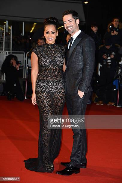 Amel Bent and Emmanuel Moire attend the 15th NRJ Music Awards at Palais des Festivals on December 14 2013 in Cannes France