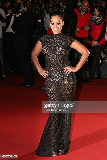 Amel Bent arrives at the 15th NRJ Music Awards at the Palais des Festivals on December 14 2013 in Cannes France