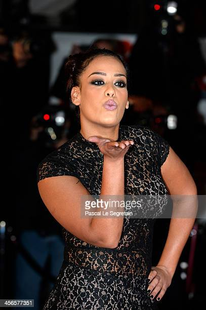 Amel Bent attends the 15th NRJ Music Awards at Palais des Festivals on December 14 2013 in Cannes France