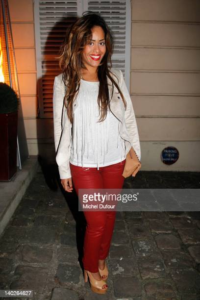 Amel Bent attends the Hogan by Karl Lagerfeld ReadyToWear Fall/Winter 2012 Presentation And Cocktail as part of Paris Fashion Week at Galerie Bailly...