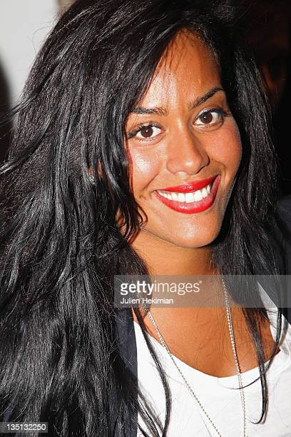 Amel Bent attends the Vanessa Bruno Ready to Wear Autumn/Winter 2011/2012 show during Paris Fashion Week at Palais De Tokyo on March 7 2011 in Paris...