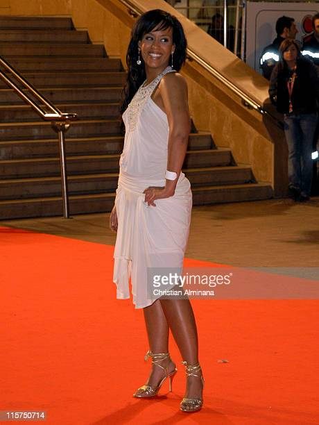 Amel Bent during 7th Annual NRJ Music Awards Arrivals at Palais des Festivals in Cannes France