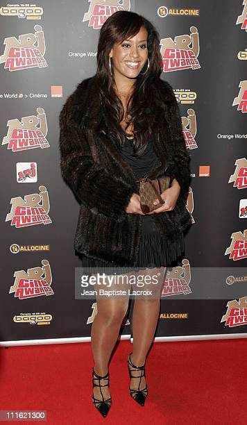 Amel Bent during NRJ Cine Award 2005 at Grand Rex in Paris France