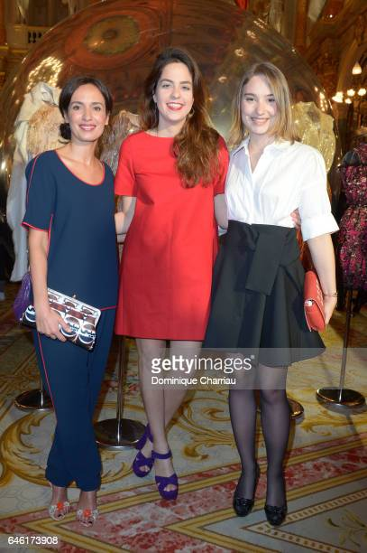 Amel ChaabiAnouchka Delon and Deborah Francois attend the Paule Ka Presentation as part of the Paris Fashion Week Womenswear Fall/Winter 2017/2018 at...