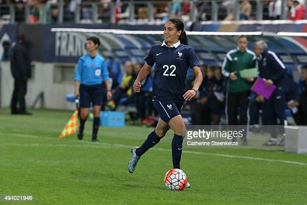 Amel Majri of France controls the ball during the international friendly game between France and Netherlands at Stade Jean Bouin on October 23 2015...