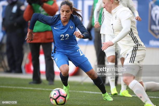 Amel Majri of France in action during the France Vs Germany SheBelieves Cup International match at Red Bull Arena on March 4 2017 in Harrison New...