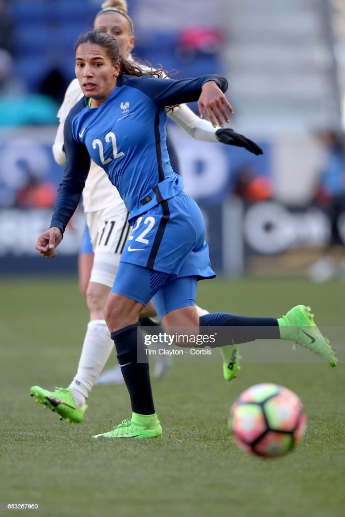 Amel Majri #22 of France in action during the France Vs Germany SheBelieves Cup International match at Red Bull Arena on March 4, 2017 in Harrison, New Jersey.