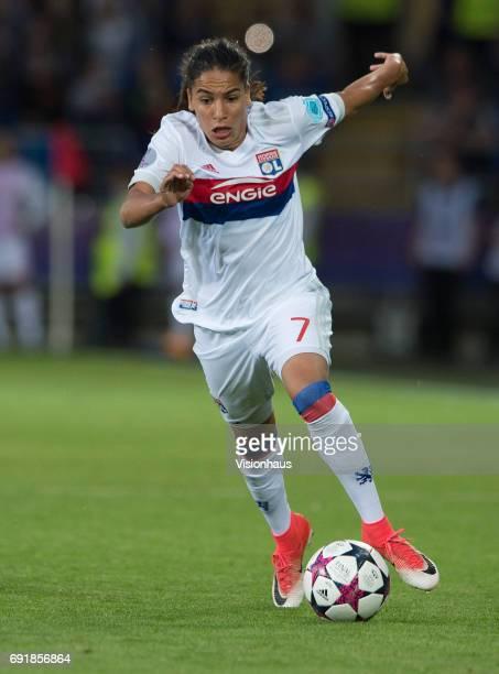 Amel Majri of Lyon during the UEFA Women's Champions League Final between Olympique Lyonnais and Paris Saint Germain on June 1 2017 at the Cardiff...