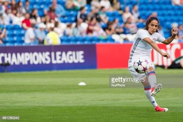Amel Majri of Olympique Lyon during the UEFA Women's Champions League Final between Lyon Women and Paris Saint Germain Women at the Cardiff City...