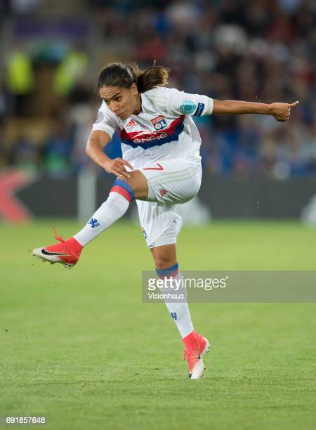 Amel Majri of Olympique Lyonnais during the UEFA Women's Champions League Final between Olympique Lyonnais and Paris Saint Germain on June 1 2017 at...