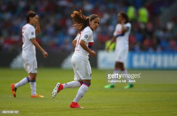 Amel Majri of Olympique Lyonnais during the UEFA Women's Champions League Final match between Lyon and Paris Saint Germain at Cardiff City Stadium on...