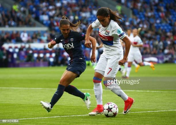Amel Majri of Olympique Lyonnais Feminies during the UEFA Women's Champions League Final match between Olympique Lyonnais Feminies and Paris...