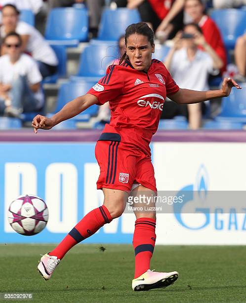 Amel Majri of Olympique Lyonnais in action during the UEFA Women's Champions League Final VfL Wolfsburg and Olympique Lyonnais between at Mapei...