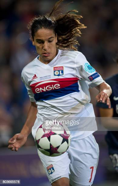 Amel Majri of Olympique Lyonnais in action during the UEFA Women's Champions League Final between Olympique Lyonnais and Paris St Germain at the...
