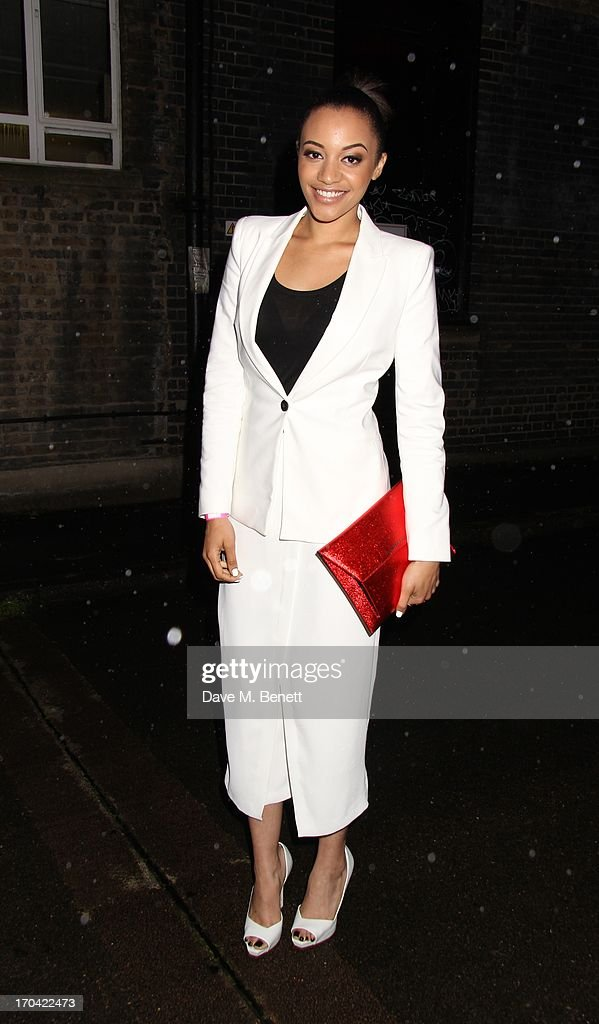 Amele Fashinue attends Club DKNY in celebration of #DKNYARTWORKS hosted by Cara Delevingne with special performances by Rita Ora and Iggy Azalea at The Fire Station on June 12, 2013 in London, England.