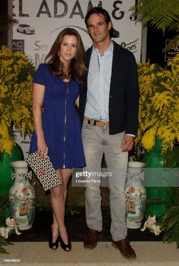 Amelia Bono and brother Jose Bono Junior attend Jorge Vazquez Pret a Porter collection presentation photocall at Royal Botanic Garden on February 13, 2014 in Madrid, Spain.