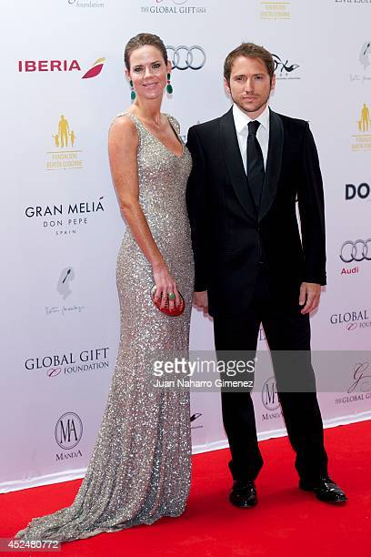 Amelia Bono and Manuel Martos attend Global Gift Gala 2014 at Melia Don Pepe Hotel on July 20 2014 in Marbella Spain