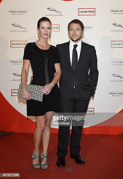 Amelia Bono and Manuel Martos attend the 'Corazon Solidario' 2014 awards ceremony at Miguel Angel Hotel on July 2 2014 in Madrid Spain
