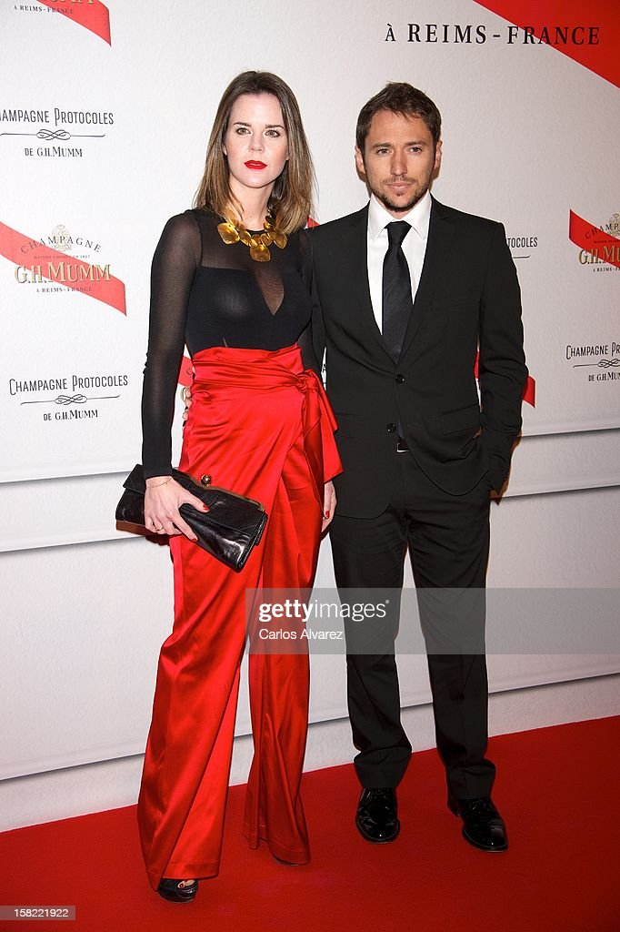Amelia Bono and Manuel Martos attend the 'Maison Mumm' inauguration at the Santo Mauro Hotel on December 11, 2012 in Madrid, Spain.