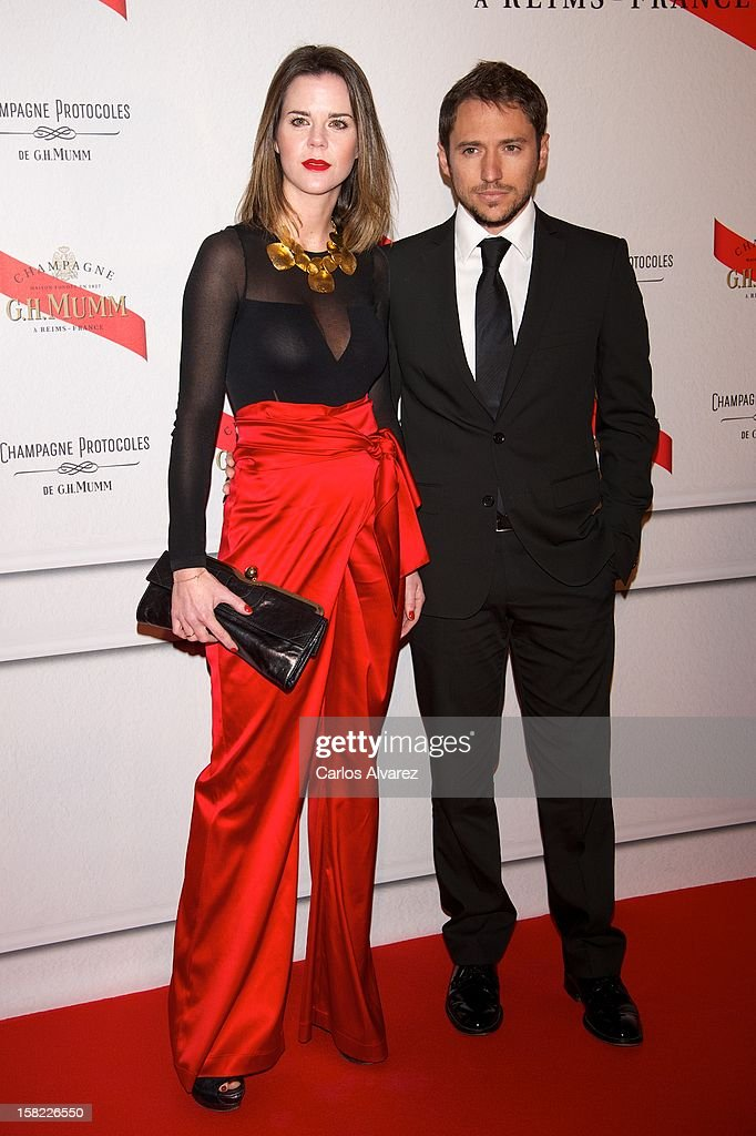 Amelia Bono and Manuel Martos attend the Maison Mumm inauguration at the Santo Mauro Hotel on December 11, 2012 in Madrid, Spain.