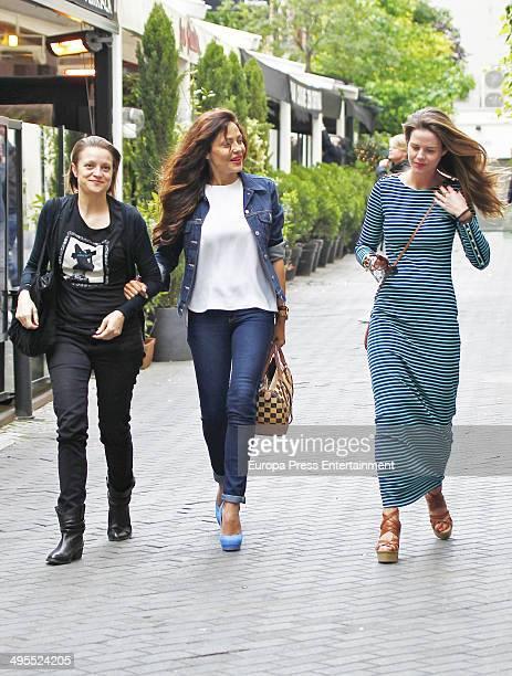 Amelia Bono and Patricia Perez are seen on May 18 2014 in Madrid Spain