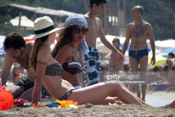 Amelia Bono and Patricia Perez sighting on July 11 2012 in Ibiza Spain