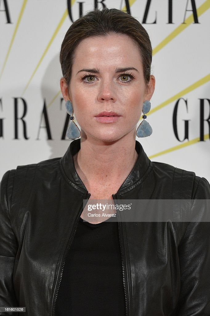 Amelia Bono attends the 'Grazia' magazine launch party at the Price theater on February 12, 2013 in Madrid, Spain.