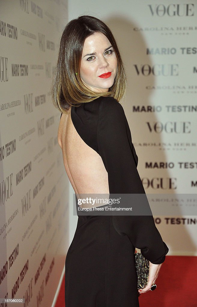 Amelia Bono attends Vogue Magazine December issue launch party at Fernan Nunez Palace on November 27, 2012 in Madrid, Spain.
