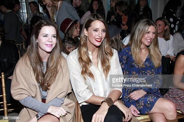 Amelia Bono Estefania Luyk and Patricia Olmedilla attend Petite Fashion Week In Madrid on November 14 2014 in Madrid Spain