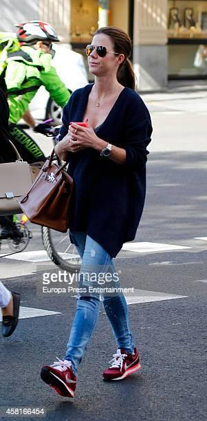 Amelia Bono is seen on October 30 2014 in Madrid Spain