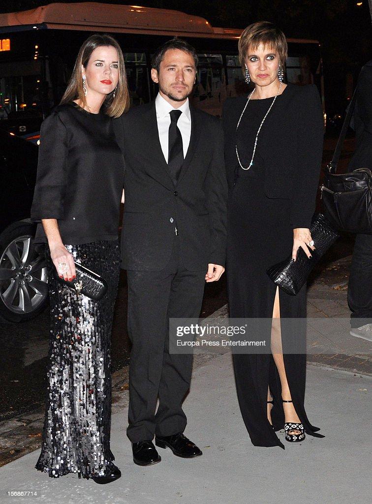 Amelia Bono, Rosa Tous and Manuel Martos arrive at Marie Claire Prix de la Moda Awards 2012 on November 22, 2012 in Madrid, Spain.