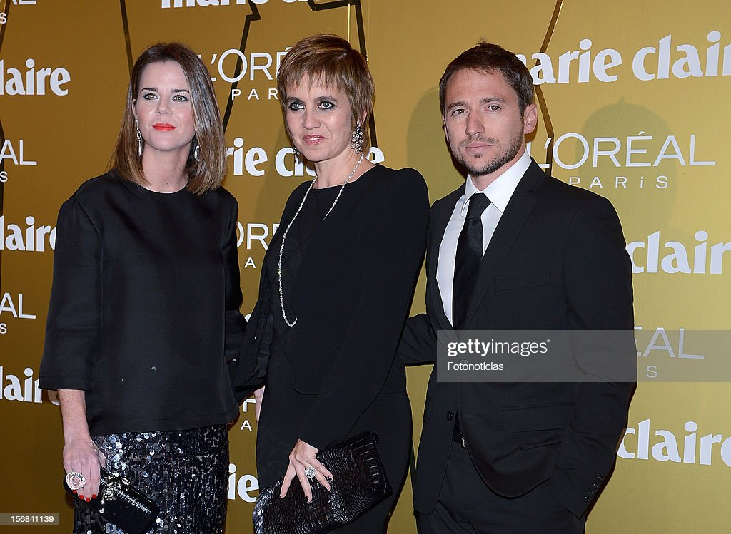 Amelia Bono, Rosa Tous and Manuel Martos attend 'Marie Claire Prix de la Mode 2012' ceremony at the French Ambassadors Residence on November 22, 2012 in Madrid, Spain.