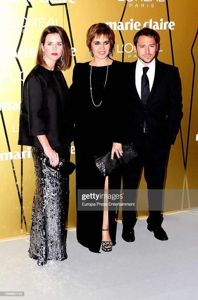 Amelia Bono, Rosa Tous and Manuel Martos attend Marie Claire Prix de la Moda Awards 2012 on November 22, 2012 in Madrid, Spain.