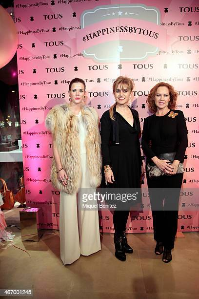 Amelia Bono Rosa Tous Oriol and Ana Rodriguez attend the Happiness by Tous on February 5 2014 in Barcelona Spain