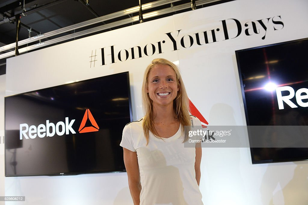 Amelia Boone attends REEBOK #HonorYourDays Luncheon at Reebok Headquarters on April 28, 2016 in Canton, Massachusetts.