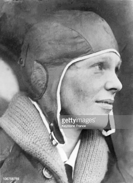 Amelia Earhart American Aviatrix In 1928